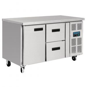 Polar GD873 1 Door & 2 Drawer Counter Fridge