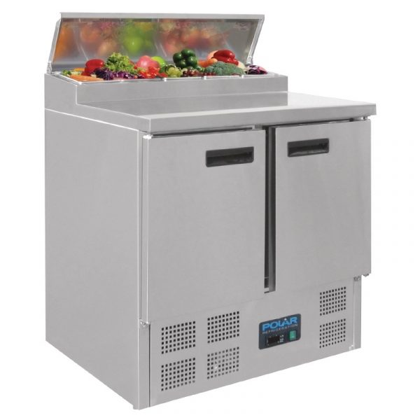 Polar G604 2 Door Preperation Counter Fridge