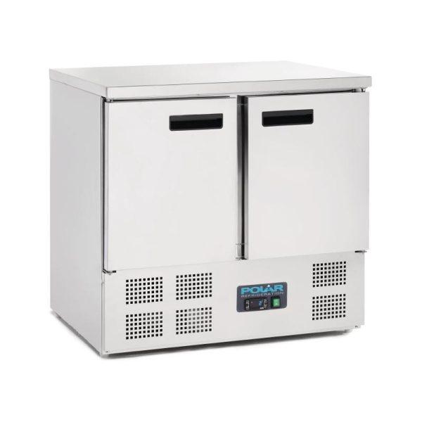 Polar U636 Double Door Counter Fridge