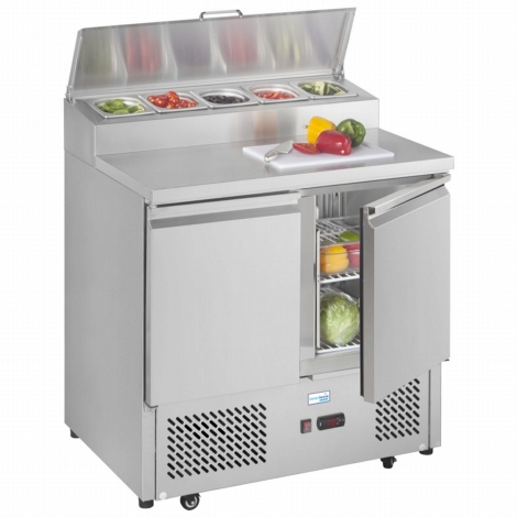 Interlevin ESS900 2 Door Gastronorm Preperation Counter Fridge