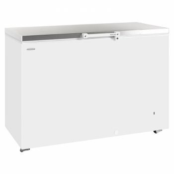Tefcold GM400SS Chest Freezer-White with Stainless Steel Lid