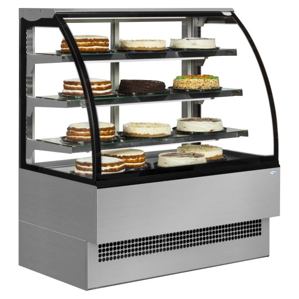 Interlevin Italia Range EVO1200SS Pattiserie Display Cabinet-Stainless Steel