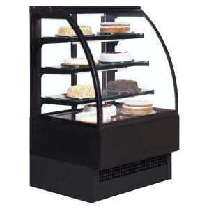 nterlevin Italia Range EVO900B Pattiserie Display Cabinet-Black