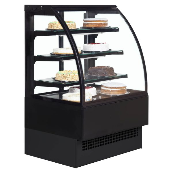 Interlevin Italia Range EVO900B Pattiserie Display Cabinet-Black