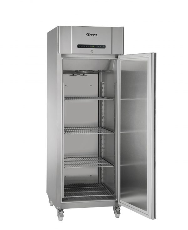 Gram Compact F610 Single Door Freezer (513ltr)-Stainless Steel