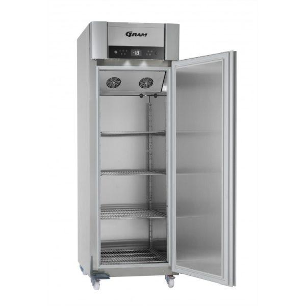 Gram Superior Plus F72 Single Door Freezer-Vario Silver