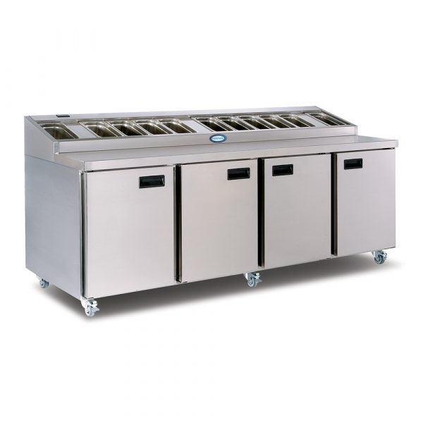Foster FPS4HR Prep Station-Stainless Steel Exterior/Aluminum Interior-No Cover