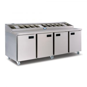 Foster FPS4HR Prep Station-Stainless Steel-No Cover