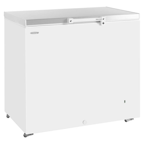 Tefcold GM300 Chest Freezer-White with Stainless Steel Lid