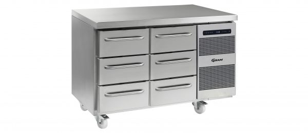 Gram Gastro K1407CSHA3D/3DC2 Counter Fridge-6 Drawers