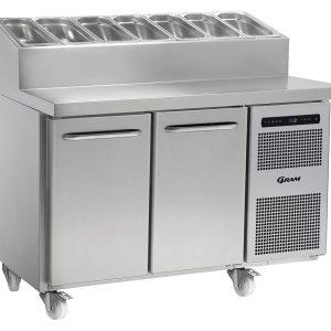 Gram Gastro K1407CSHPTDL/DRC2 Counter Fridge-2 Door Prep Top Counter