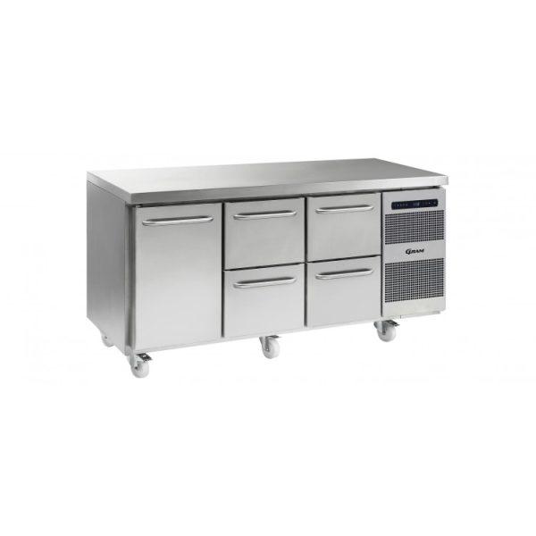 Gram Gastro K1807 3 Door Counter Fridge -1 Door & 4 Drawers