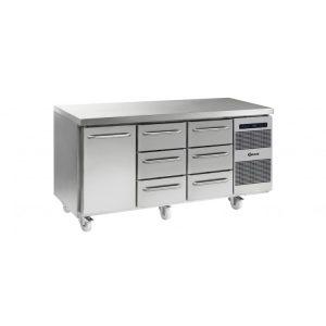 Gram Gastro K1807 3 Door Counter Fridge -1 Door & 6 Drawers