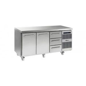 Gram Gastro K1807 3 Door Counter Fridge -2 Doors & 3 Drawers