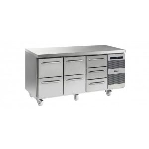 Gram Gastro K1807 3 Door Counter Fridge -7 Drawers