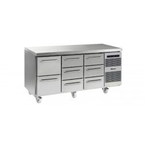 Gram Gastro K1807 3 Door Counter Fridge -8 Drawers