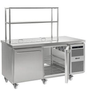 Gram Gastro K1808 2 Door Counter Fridge (586ltr)-2 Door Prep Top Counter