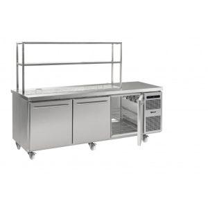 Gram Gastro K2408 3 Door Counter Fridge (865ltr)-3 Door Pass Through Saladette