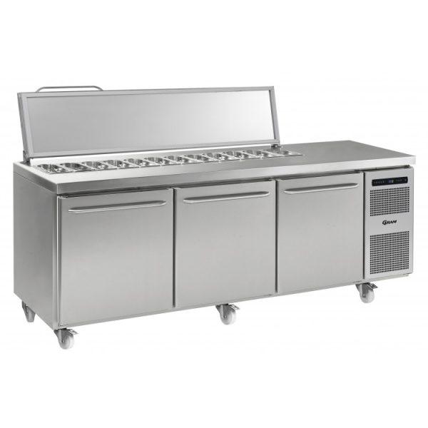 Gram Gastro K2408 3 Door Counter Fridge (865ltr)-3 Door Saladette