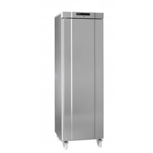 Gram Compact K410 Upright Fridge-Stainless Steel