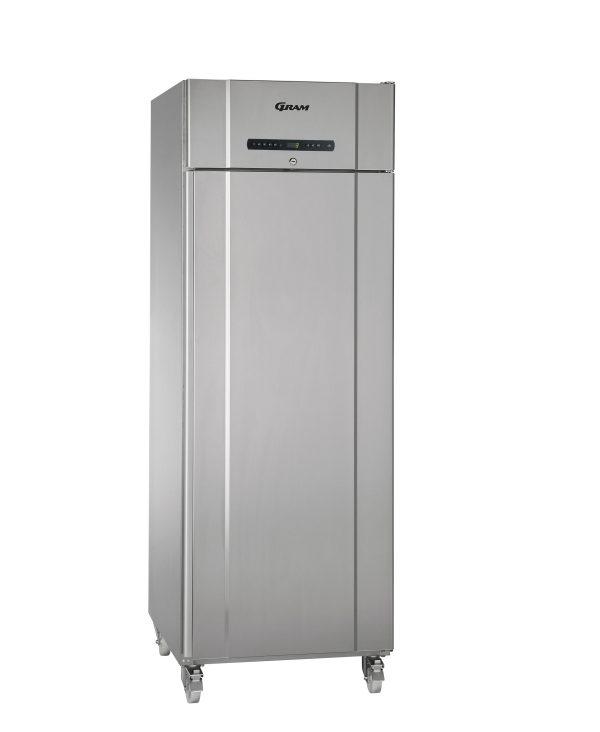 Gram Compact K610 Single Door Fridge (513ltr)-Stainless Steel