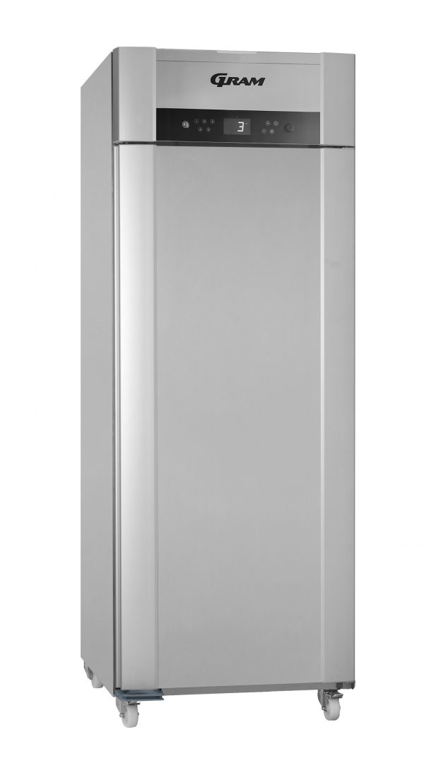 Gram Superior Twin M84 Fresh Meat Single Door Fridge-Vario Silver