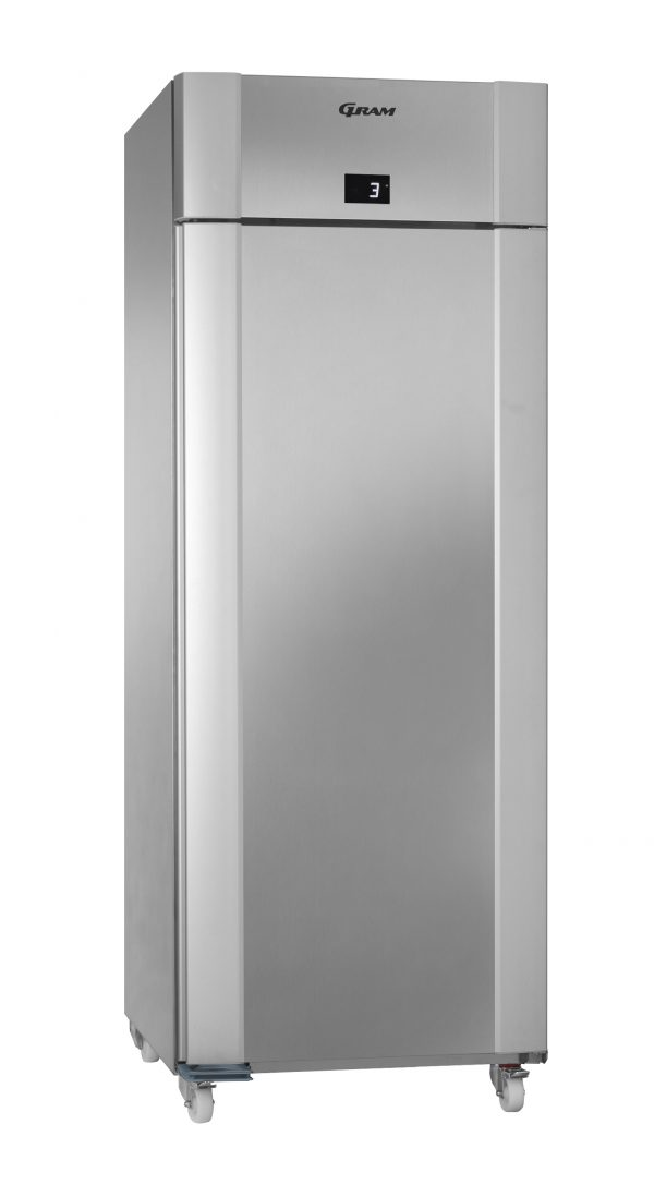 Gram ECO Twin M82 Single Door Fresh Meat Fridge-Vario Silver