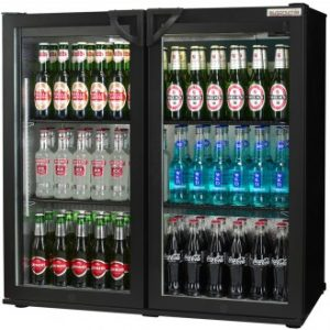 Autonumis Popular Double Door Bottle Cooler (Hinged Doors)-Black-0