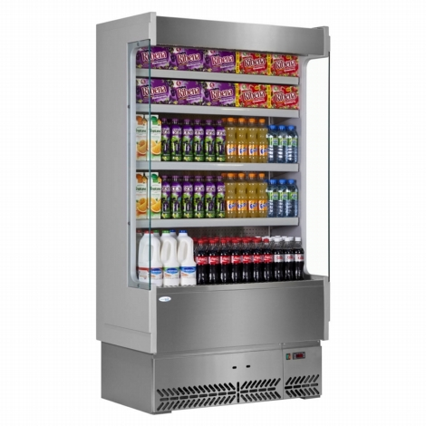 Interlevin SP60-100X Italia Range Slimline Multideck-Grey - Stainless Steel