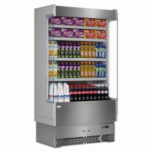 Interlevin SP60-100X Italia Range Slimline Multideck-Grey - Stainless Steel -No Door