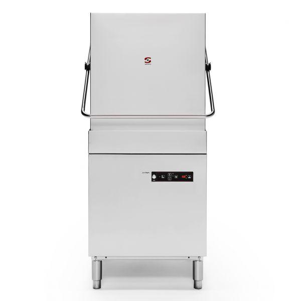 Sammic X-100 X-tra Pass Through Dishwasher-Drain Pump + Constant Rinse Temperature System