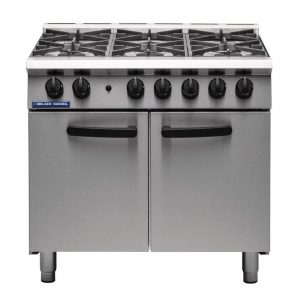 Blue Seal SR Series G750-6 - 6 Burner Range Static Oven-Legs