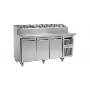 Gram Gastro K1807 3 Door Counter Fridge -3 Door Prep Top Counter