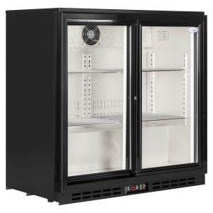 Interlevin PD20 Double Door Back Bar Bottle Cooler -Glass Door - Sliding