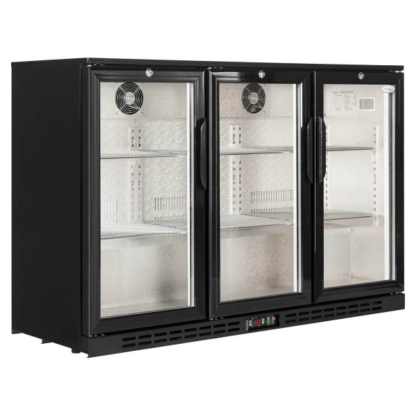 Interlevin PD30 Triple Door Back Bar Bottle Cooler-Glass Door - Hinged