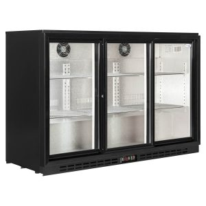 Interlevin PD30 Triple Door Back Bar Bottle Cooler-Glass Door - Sliding