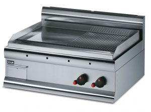 Lincat Silverlink 600 GS7/R Half Ribbed Griddle-Electric-0