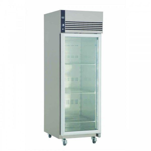Foster EcoPro G2 EP700G Single Glass Door Refrigerator-Stainless Steel Ext/Aluminum Int-Glass Door-R290