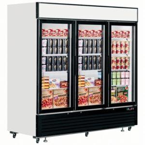 Interlevin LGF7500 GlassTriple Door Display Freezer