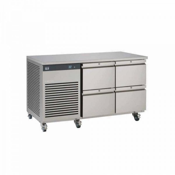 Foster EcoPro G2 EP1/2H Double Door Counter Fridge-Stainless Steel-4 Drawers-R290