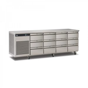 Foster EcoPro G2 EP1/4H 4 Door Counter Fridge-Stainless Steel-12 Drawers-R290