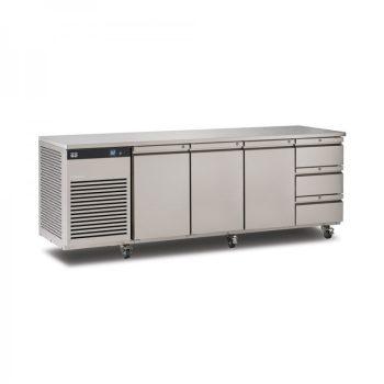 Foster EcoPro G2 EP1/4H 4 Door Counter Fridge-Stainless Steel-3 Door & 3 Drawers-R290