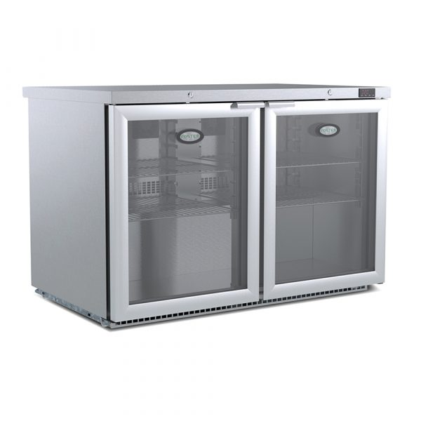 Foster HR360 Glass Door Undercounter Fridge