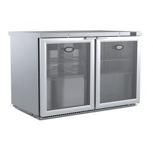 Foster HR360 Glass Door Undercounter Fridge-No Light-R134a