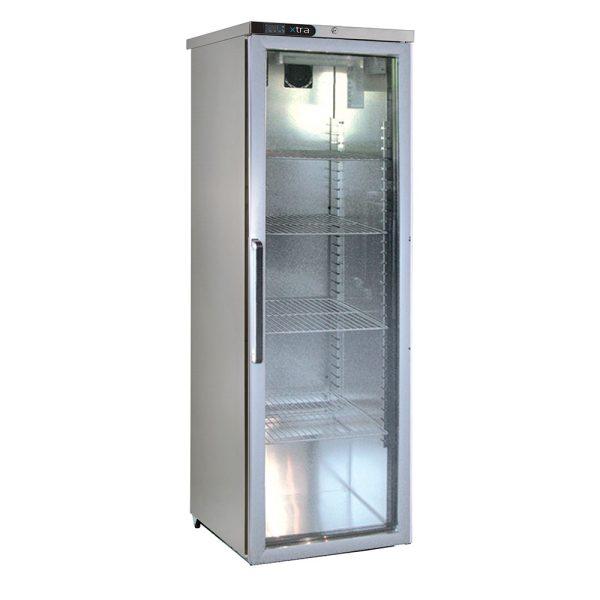 Foster XR415G Glass Door Slimline Refrigerator -Light-R134a