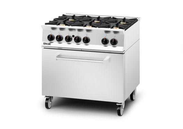 Lincat Opus 800 OG8002 6 Burner Gas Oven -Natural Gas-Drop Down