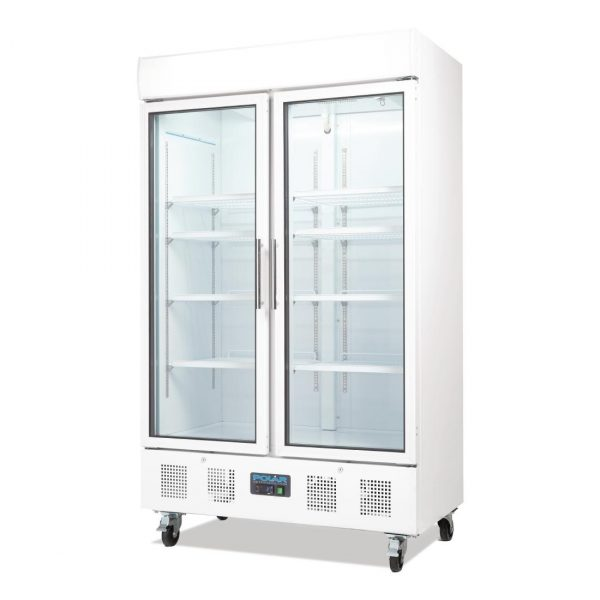 Polar CD984 Double Door Display Fridge