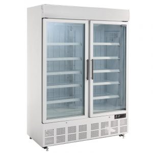 Polar GH507 Double Door Display Freezer