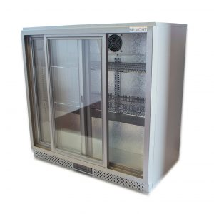 Belmont BC9027G Bottle Cooler Sliding Door Silver