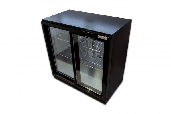 Belmont BC9027K Bottle Cooler Sliding Door-Black